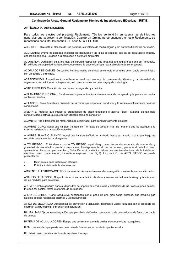 RESOLUCION No. 180466             DE      ABRIL 2 DE 2007                                 Página 14 de 129      Continuaci...
