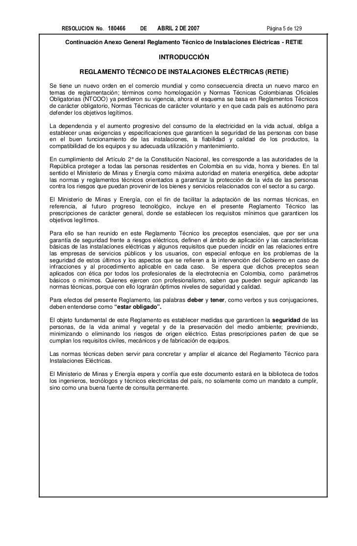 RESOLUCION No. 180466          DE    ABRIL 2 DE 2007                            Página 5 de 129      Continuación Anexo Ge...