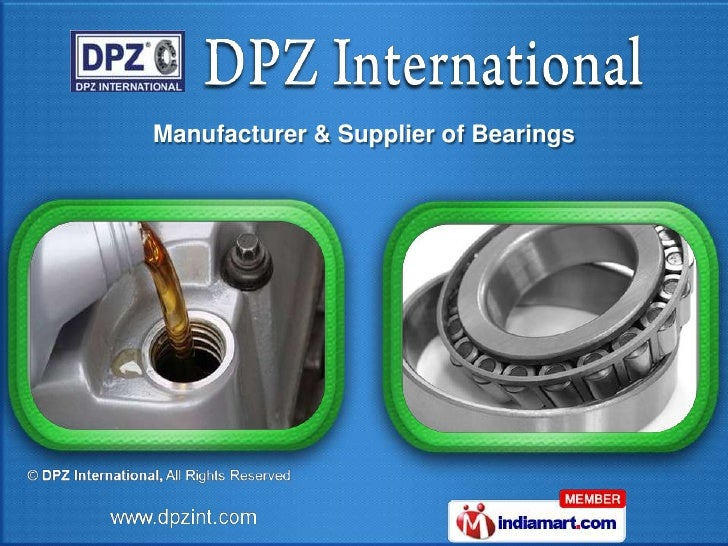 Manufacturer & Supplier of Bearings