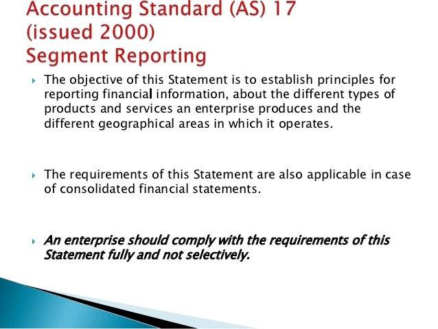 accounting standard 17 Accounting standard 17 (segment reporting.