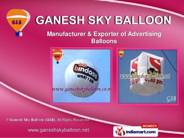 Manufacturer & Exporter of Advertising              Balloons