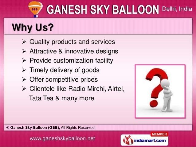 Advertising Balloons & Inflatable Characters by Ganesh Sky Balloon (GSB), New Delhi  Slide 3