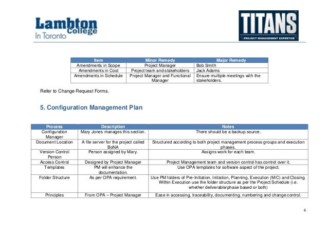 Alpha Case Study - Project Management Plan Sample