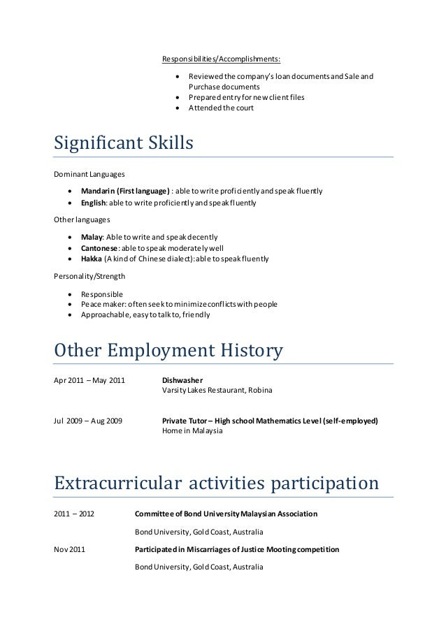 Responsibilities/Accomplishments:  Reviewedthe company'sloandocumentsandSale and Purchase documents  Preparedentryfornew...