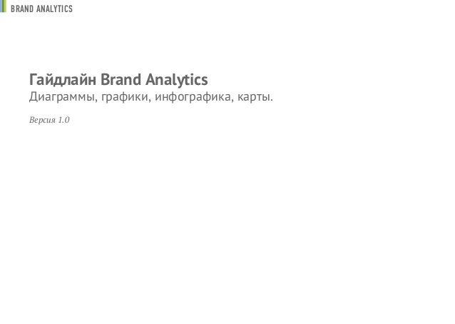 Гайдлайн Brand Analytics Диаграммы, графики, инфографика, карты. Версия 1.0 BRAND ANALYTICS