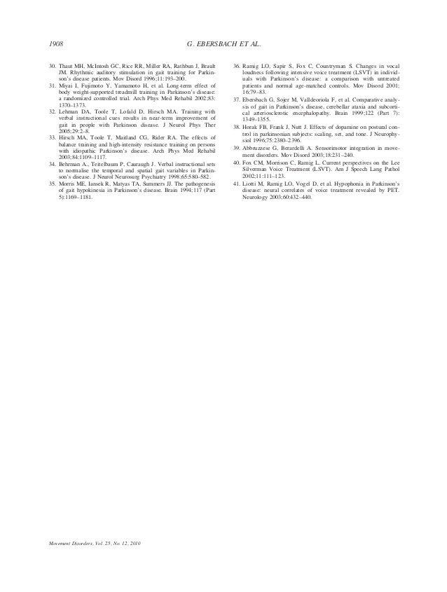 30. Thaut MH, McIntosh GC, Rice RR, Miller RA, Rathbun J, Brault JM. Rhythmic auditory stimulation in gait training for Pa...