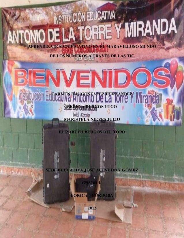 APRENDIZAJE SIGNIFICATIVO EN EL MARAVILLOSO MUNDO DE LOS NÚMEROS A TRAVÉS DE LAS TIC  CARMEN IBIS GONZÁLEZ HERNÁNDEZ BEREN...