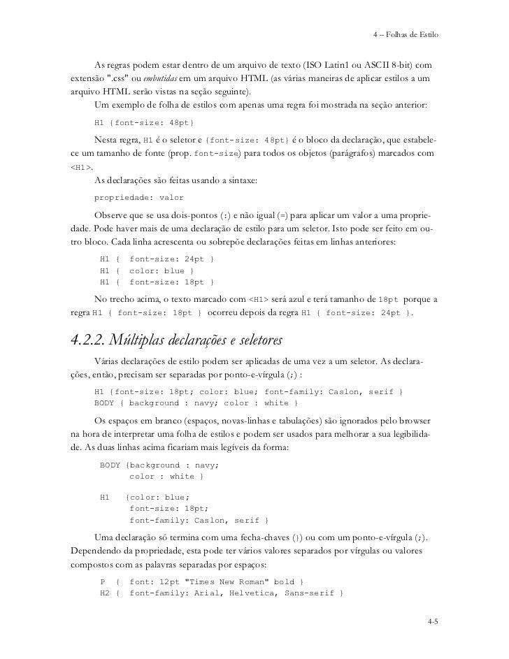 7f215def11 ... da forma  seletores   declarações   4-4  5.