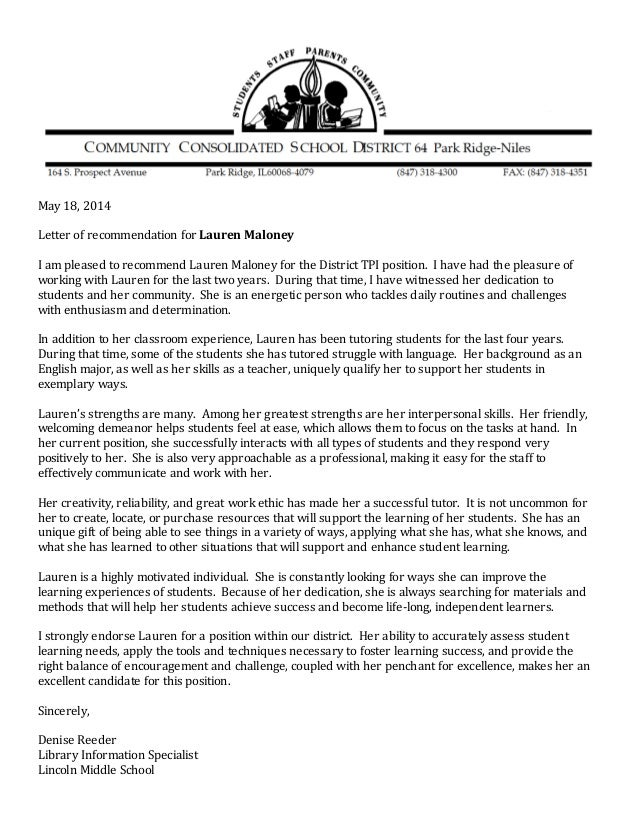 Laurens letter of recommendation 514 google docs may 18 2014 letter of recommendation for lauren maloney i am pleased to recommend lauren spiritdancerdesigns Image collections