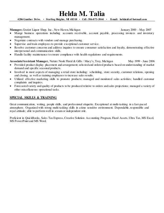 Helda's Resume updated