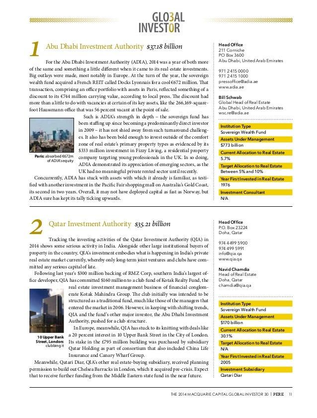 2014 Investor 30 ranking