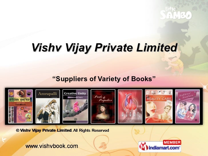 "Vishv Vijay Private Limited "" Suppliers of Variety of Books"""