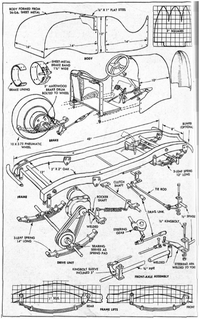 38720563 Vintage Go Kart Mini Bike Plans 1950s