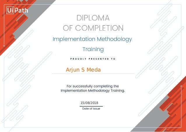 UIPath RPA Implementation Methodology Certification