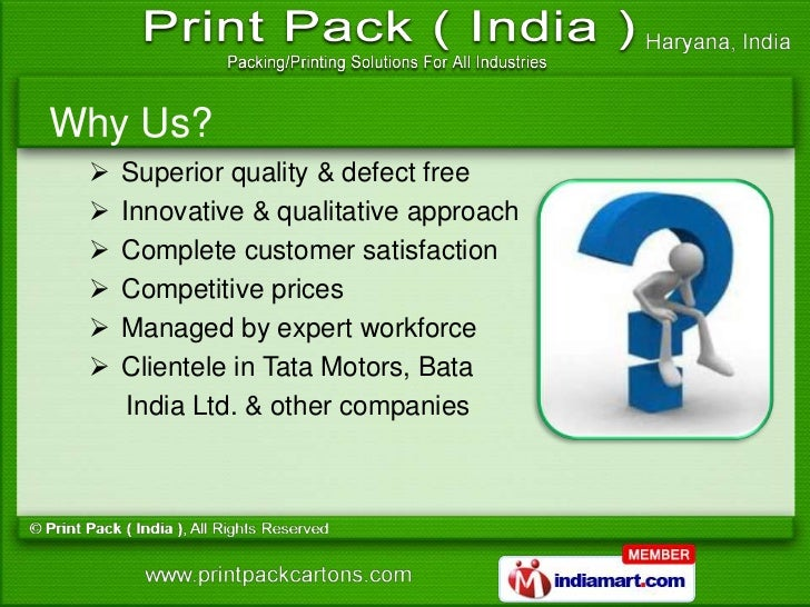 Printed Boxes by Print Pack ( India ) Faridabad