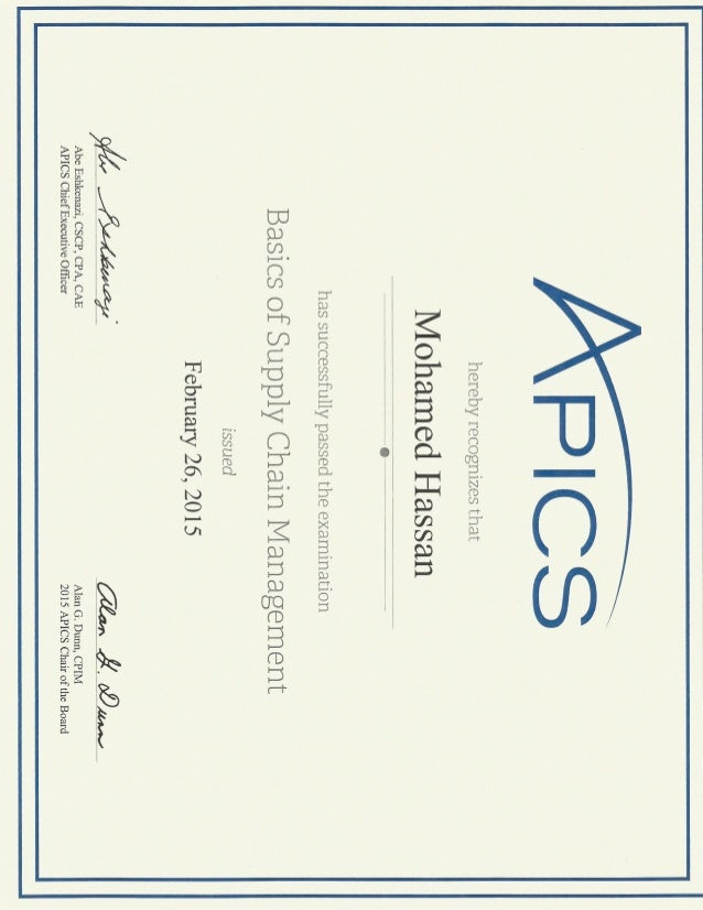 Certified Production And Inventory Management Cpim Bscm Apics