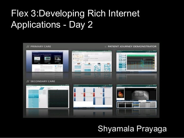 Flex 3:Developing Rich InternetApplications - Day 2                    Shyamala Prayaga