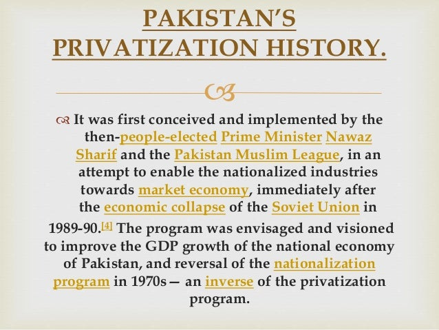 privatization in pakistan and advantage and disadvantages