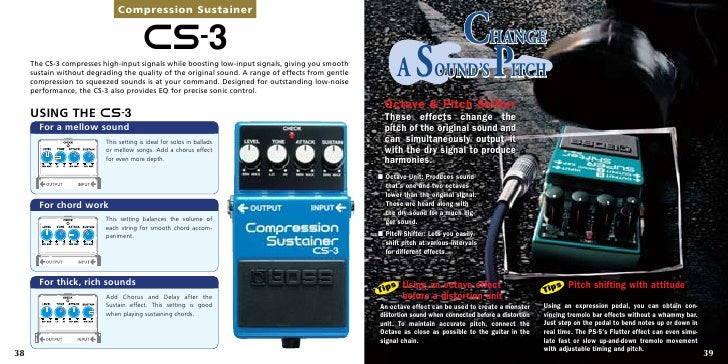 boss guide effects 36 37 20 compression sustainer cs 3