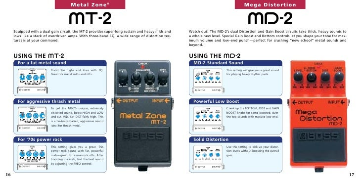 Инструкция К Педали Эффектов Boss Metal Zone