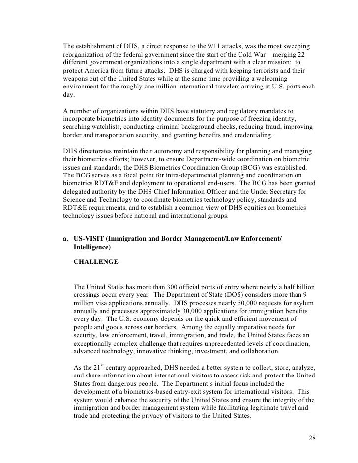 Post 9-11 Reorganization Of Intelligence Community