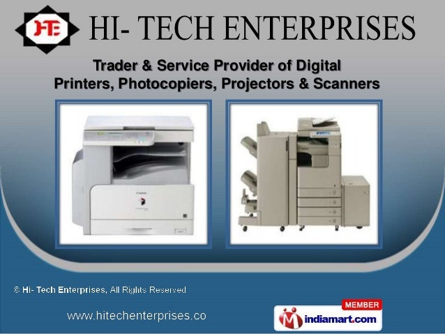 Trader & Service Provider of DigitalPrinters, Photocopiers, Projectors & Scanners
