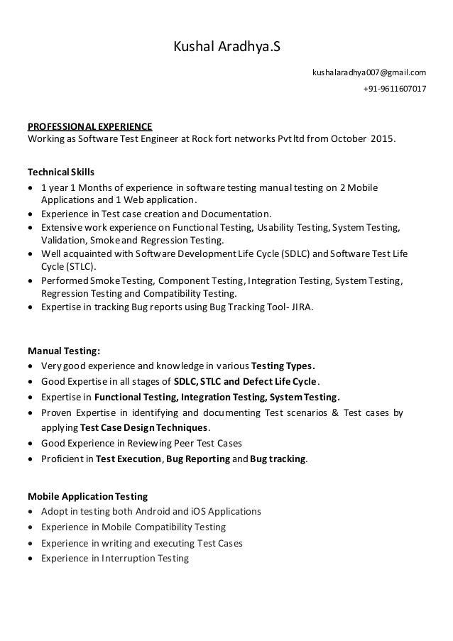 Kushal new Resume