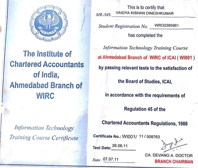 Information Technology Certificate