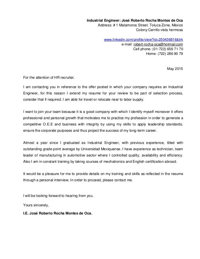 Resume And Cover Letter English - Process leader cover letter