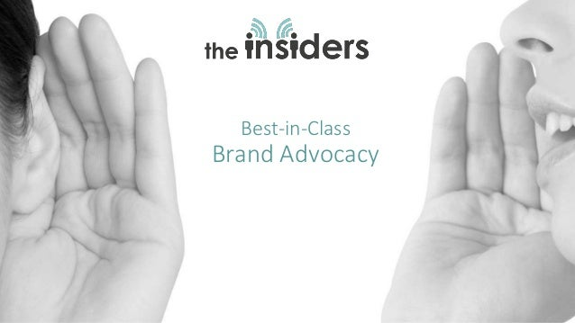 Best-in-Class Brand Advocacy
