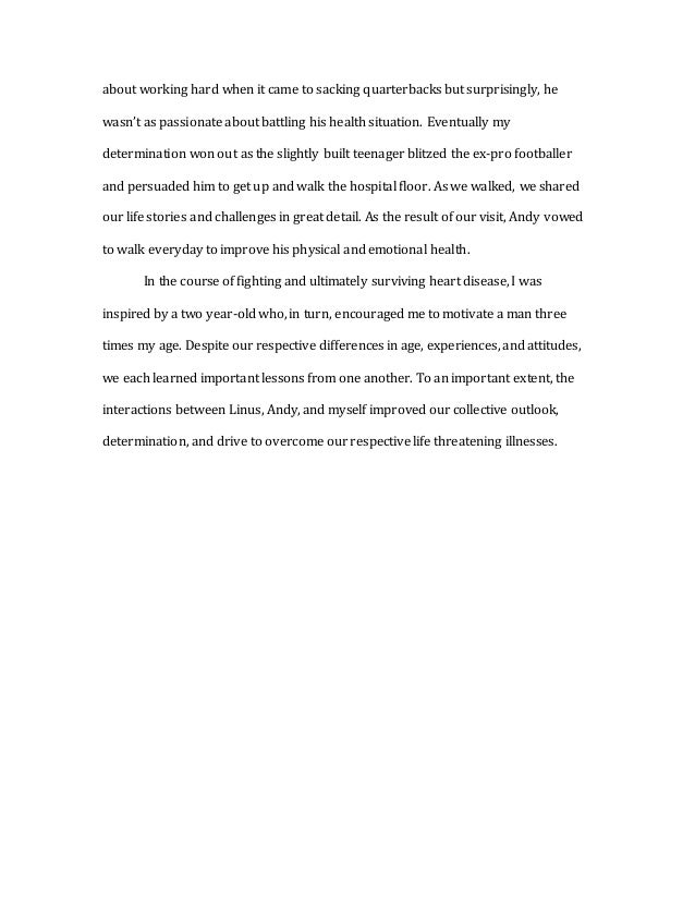 a m admission essay  3 about