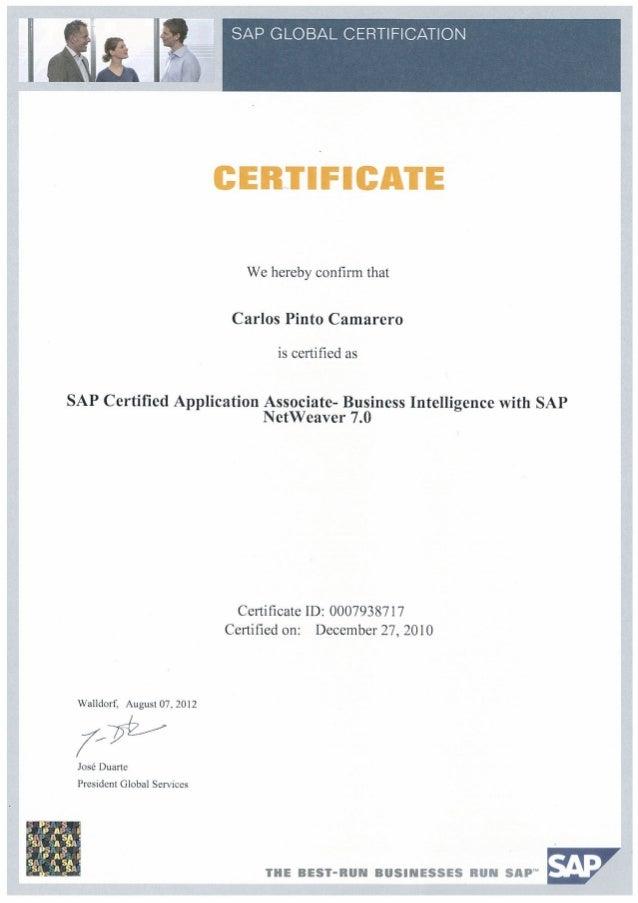 C Tbw45 70 Sap Certified Application Associate Business
