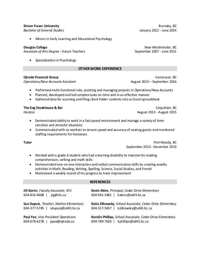 danielle s final resume