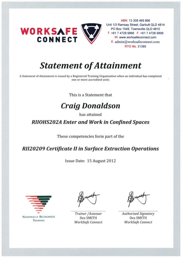 cd confined space certificate