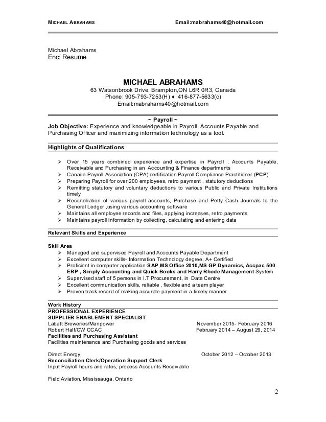 Resume For Payroll Clerk. payroll clerk resume skills objective ...