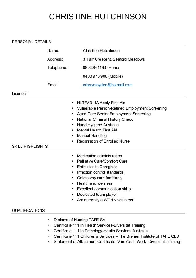 Resume Updated