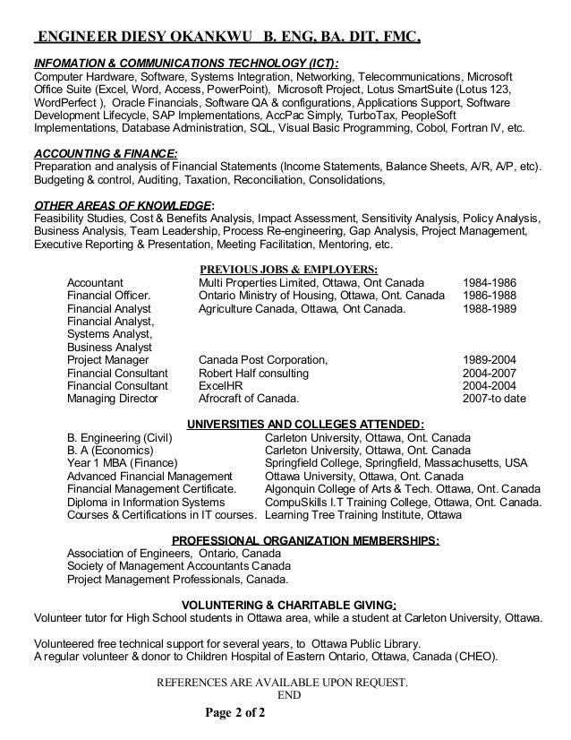Stunning Ottawa Accounting Resume Contemporary - Best Resume ...