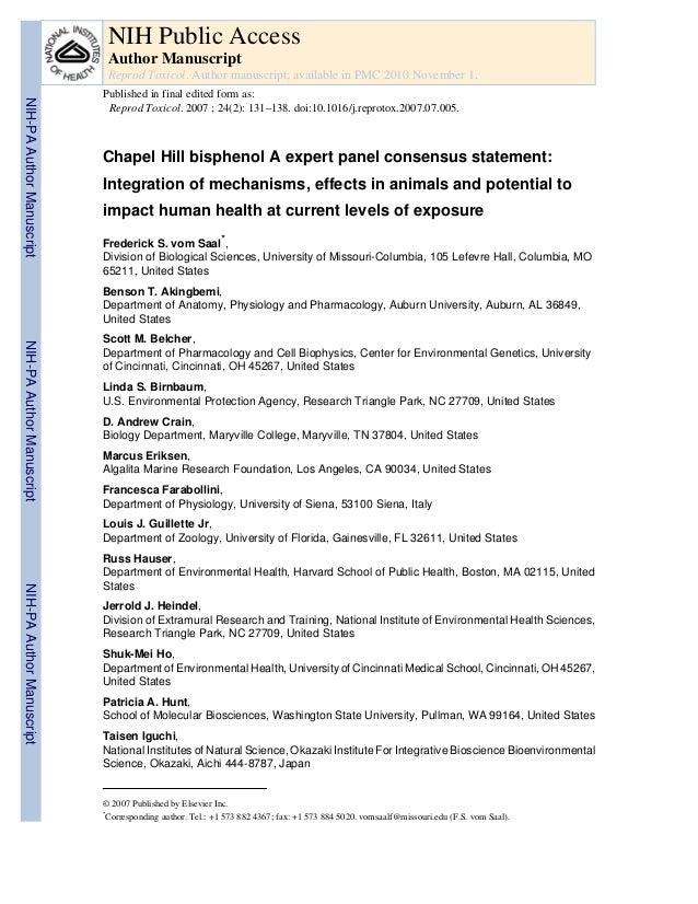 NIH Public Access Author Manuscript Reprod Toxicol. Author manuscript; available in PMC 2010 November 1.  NIH-PA Author Ma...