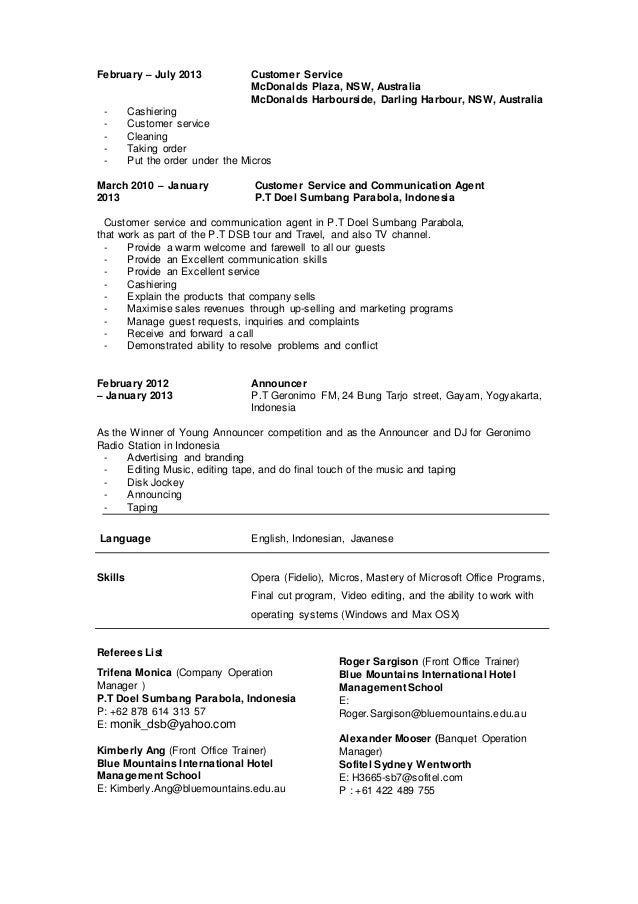Mc Donalds Resume | Father Of The Bride Speech Writing Guide Simply The Best Resume