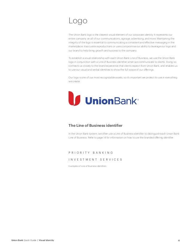 Visual identity; 4. 4Union Bank Quick Guide ...