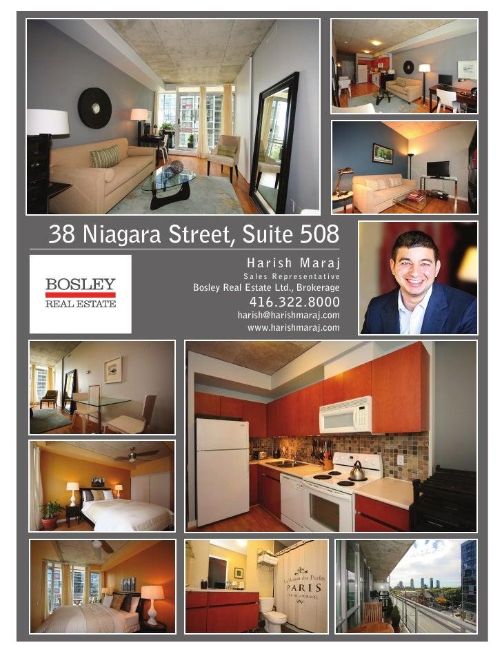 38 Niagara Street Suite 508 Feature Sheet