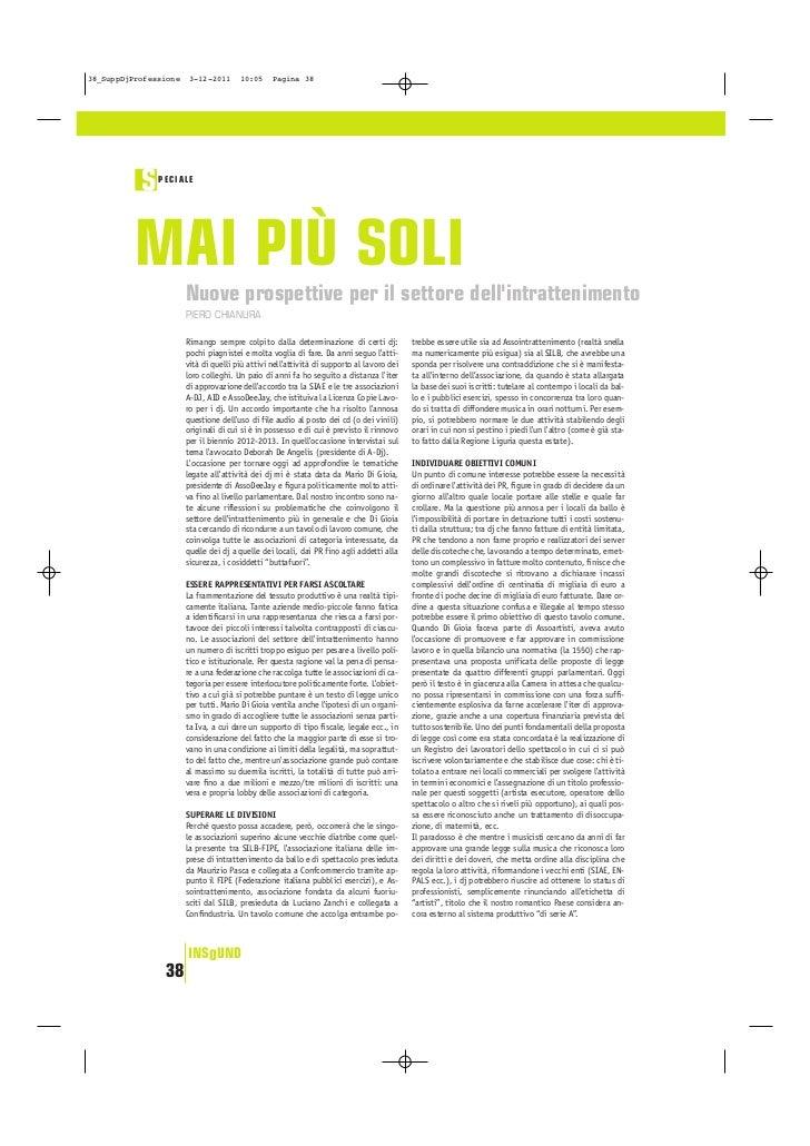 38_SuppDjProfessione    3-12-2011      10:05     Pagina 38           S   PECIALE          MAI PIÙ SOLI                    ...
