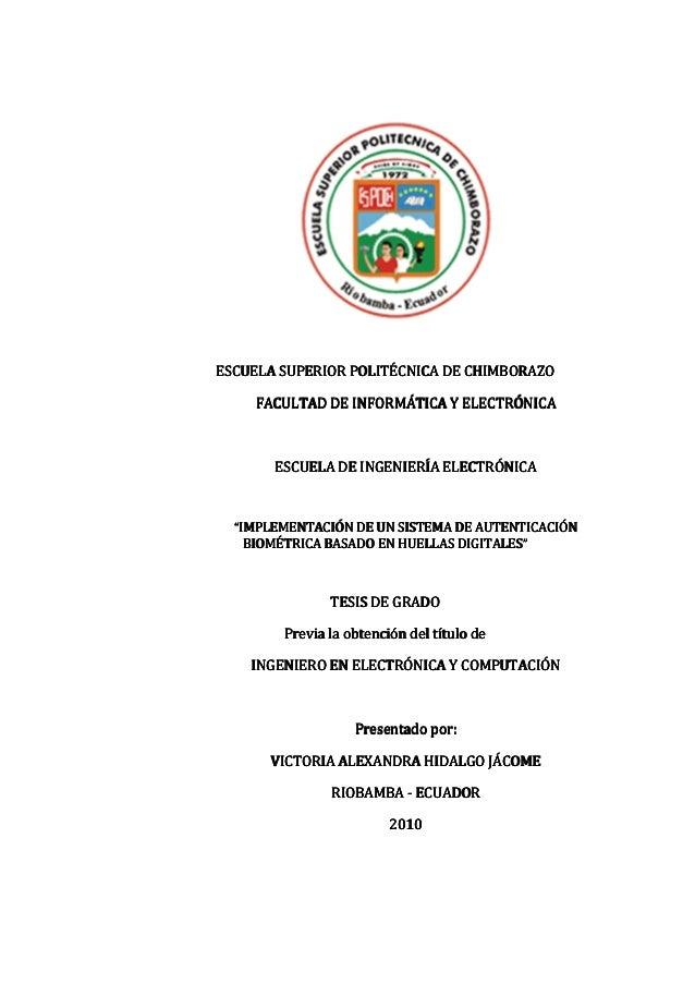 - 1 - ESCUELA SUPERIORESCUELA SUPERIORESCUELA SUPERIORESCUELA SUPERIOR POLITÉCNICAPOLITÉCNICAPOLITÉCNICAPOLITÉCNICA DE CHI...