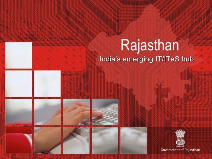 Rajasthan India's emerging IT/ITeS hub