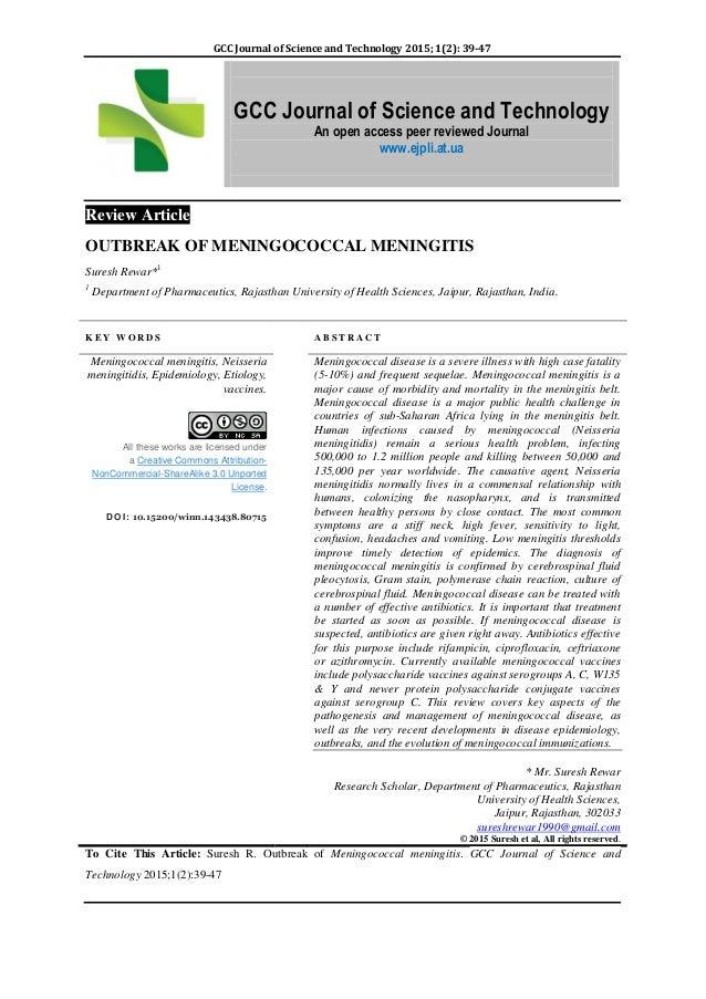 39. memingococcal meningitis