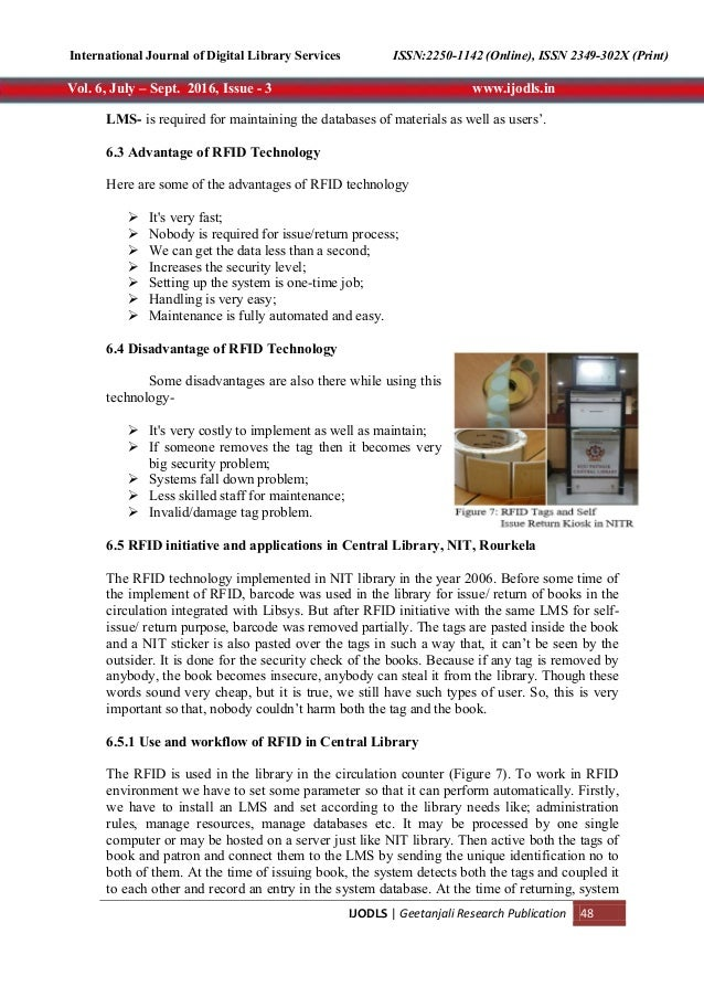 ENHANCING LIBRARY SERVICES USING BARCODE, QR CODE AND RFID TECHNOLOGY…