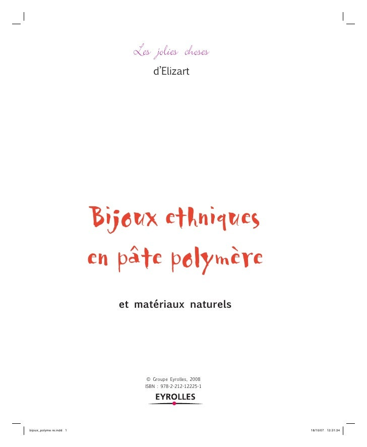 Les jolies choses          d'Elizart     Bijoux ethniques en pâte polymère   et matériaux naturels            © Groupe Eyr...