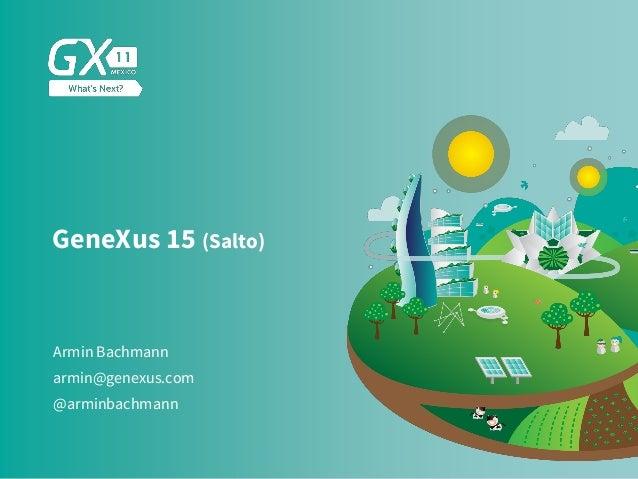 GeneXus 15 (Salto) Armin Bachmann @arminbachmann armin@genexus.com