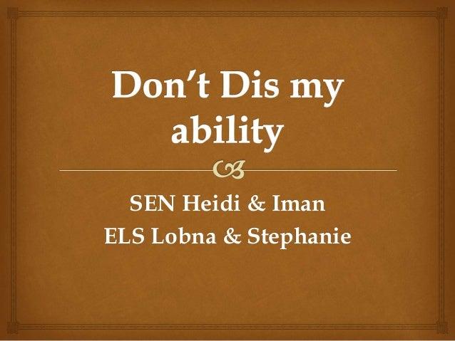 SEN Heidi & Iman ELS Lobna & Stephanie