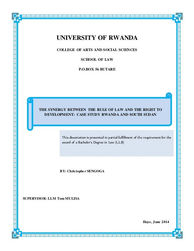 Phd thesis in law
